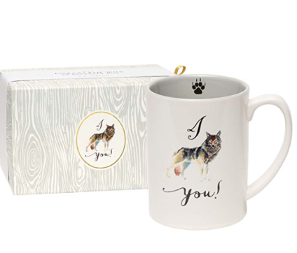 C.R. Gibson 'I Wolf You' Coffee Mug