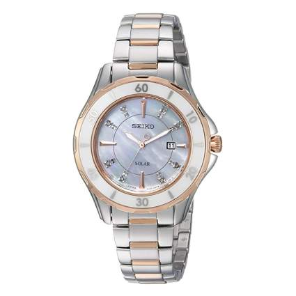 diamond studded solar watch