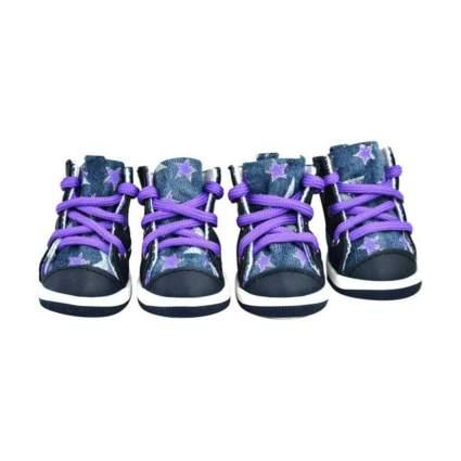 Senery Denim Star Dog Shoes
