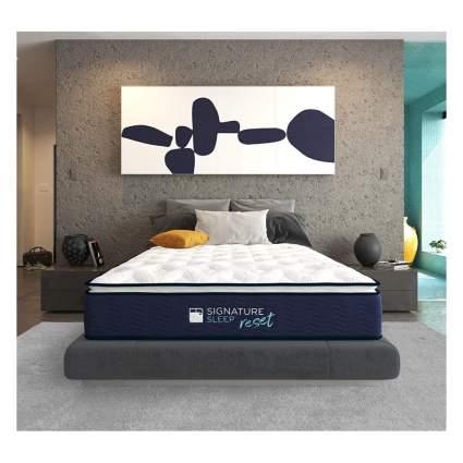 hybrid pillow top mattress