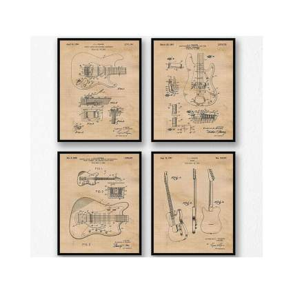 Original Fender Guitar Patent Poster Prints