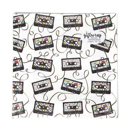 Stesha Party Cassette Tape Gift Wrapping Paper