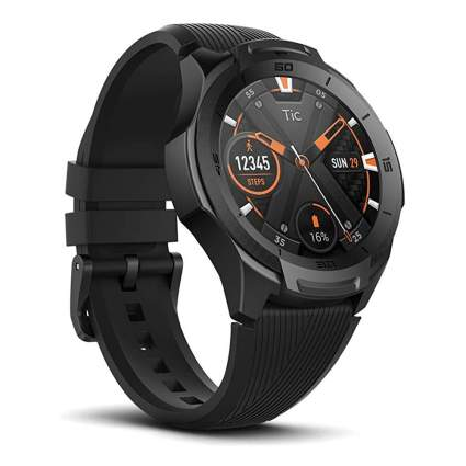 black AI enabled smartwatch