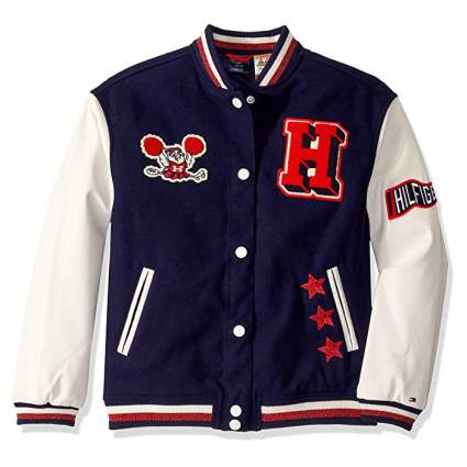 Tommy Hilfiger Adaptive Varsity Jacket with Magnetic Buttons