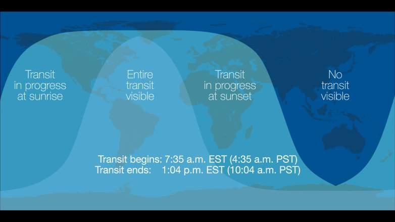 mercury transit map nasa