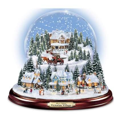 victorian village snow globe