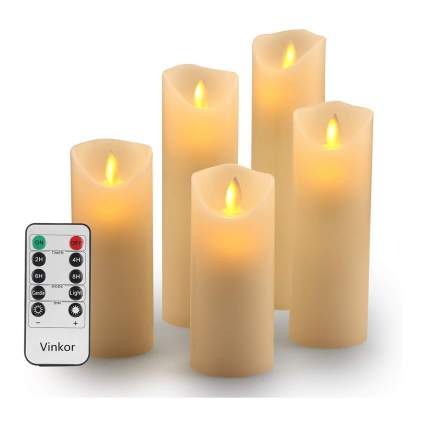 Tall flameless candles