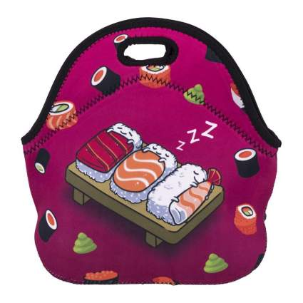 Sushi patterened lunch bag