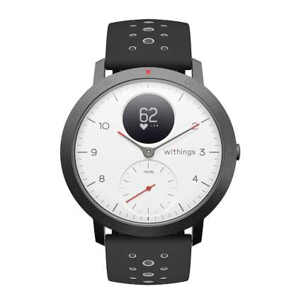 black steel sport smartwatch