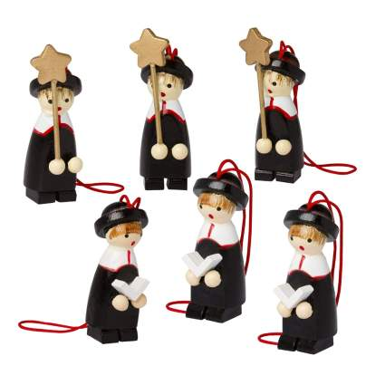 German choirboy wooden christmas decorations