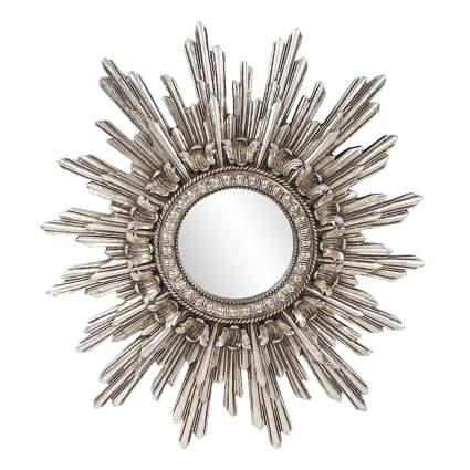 antique silver starburst mirror