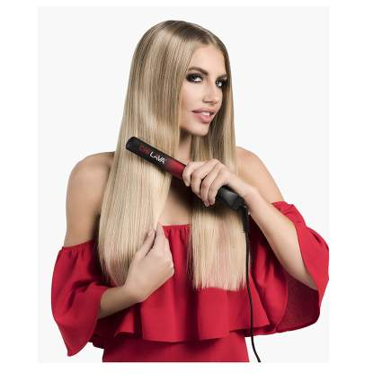lava infused ceramic flat iron