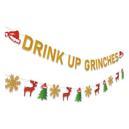 drink up grinches party banner