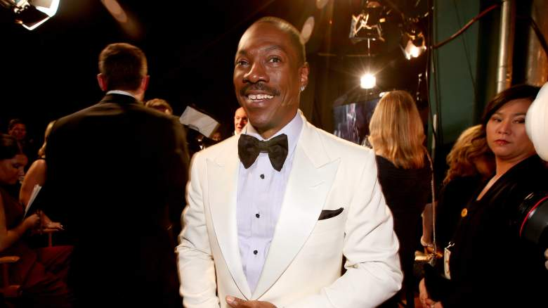 Eddie Murphy backstage at the 87th Academy Awards.