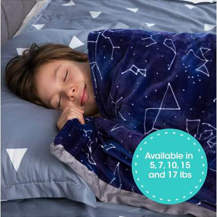 Florensi Weighted Blanket for Kids with Removable Bamboo Duvet Cover