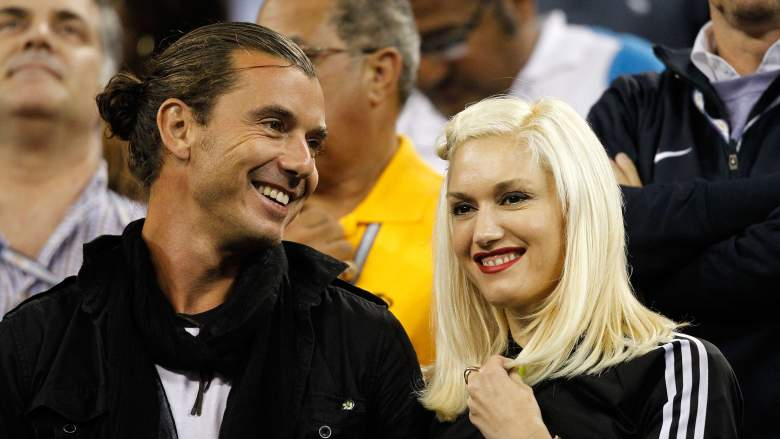 Gavin Rossdale and Gwen Stefani attend the 2010 Us Open.