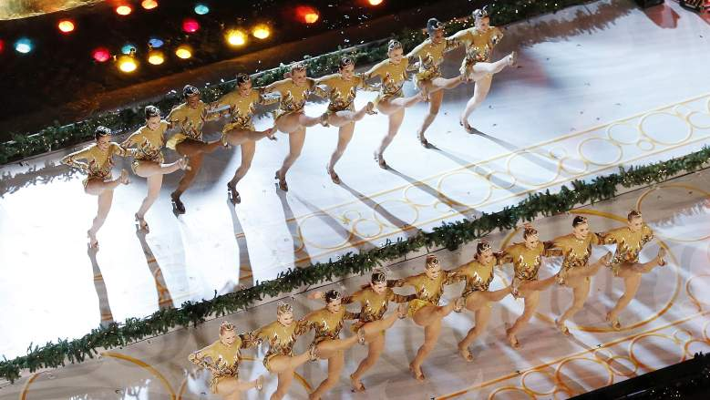 Radio City Rockettes at Rockefeller tree lighting