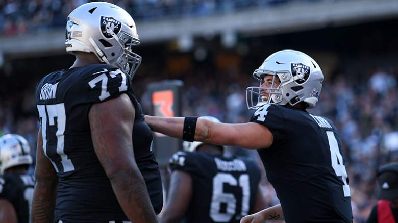 derek carr trent brown
