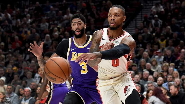 Anthony Davis Lakers Blazers