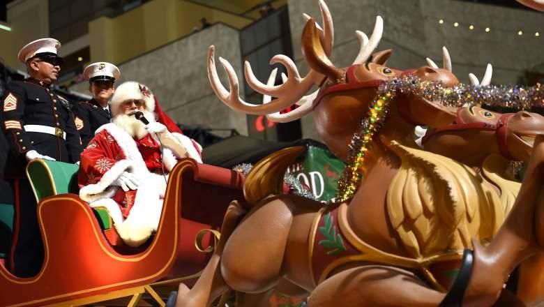 Hollywood Christmas Parade Santa Claus