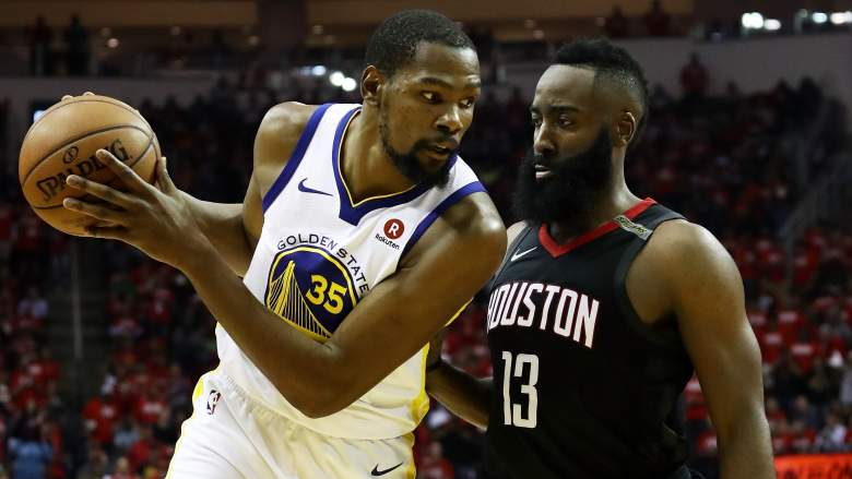Kevin Durant and James Harden