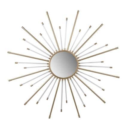 gold and white starburst mirror