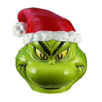 ceramic grinch cookie jar
