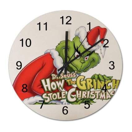grinch wall clock