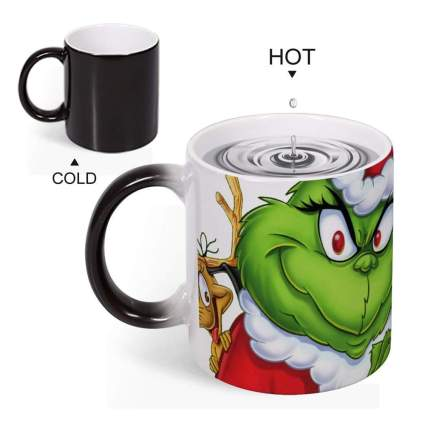 heat sensitive grinch mug