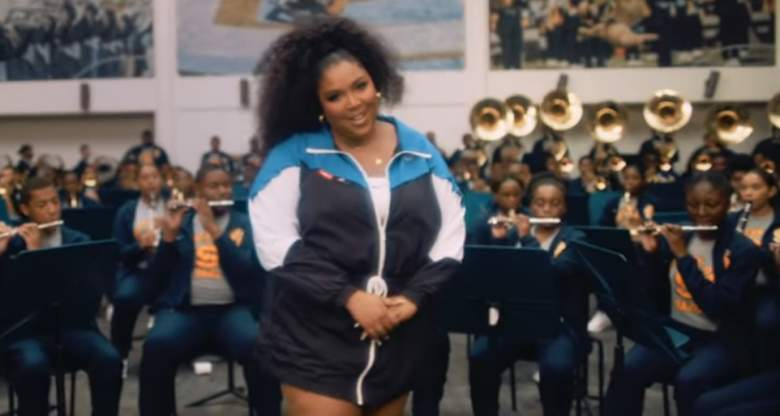 Lizzo performs in the Good As Hell video.
