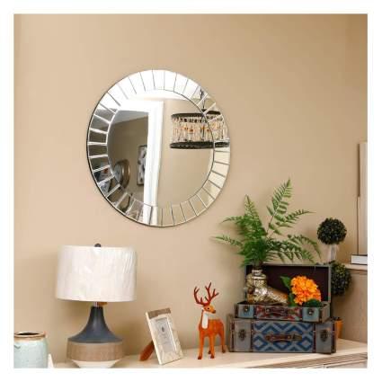 mirrored sunburst mirror
