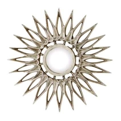 silver flower sunburst clock