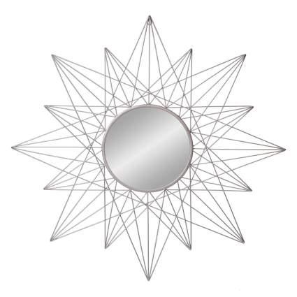 geometric sunburst clock