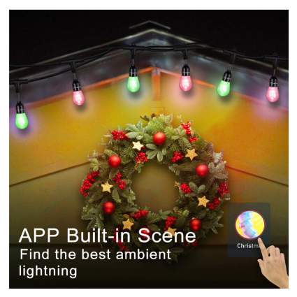 smart outdoor string lights