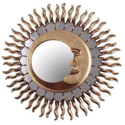 sun and moon sunburst wall mirror