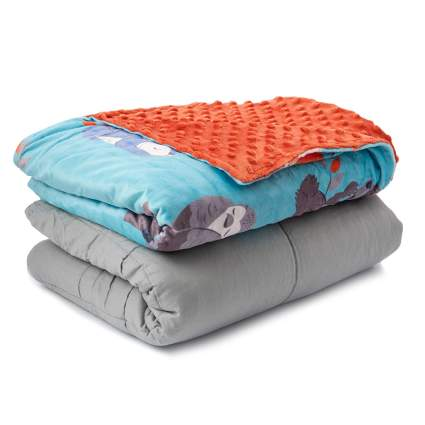 Sweetzer Orange Weighted Blanket for Kids