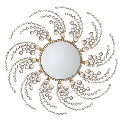 wirling gold sunburst mirror