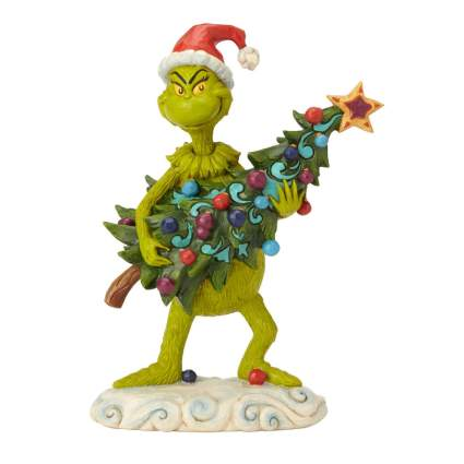 tree stealing grinch figurine