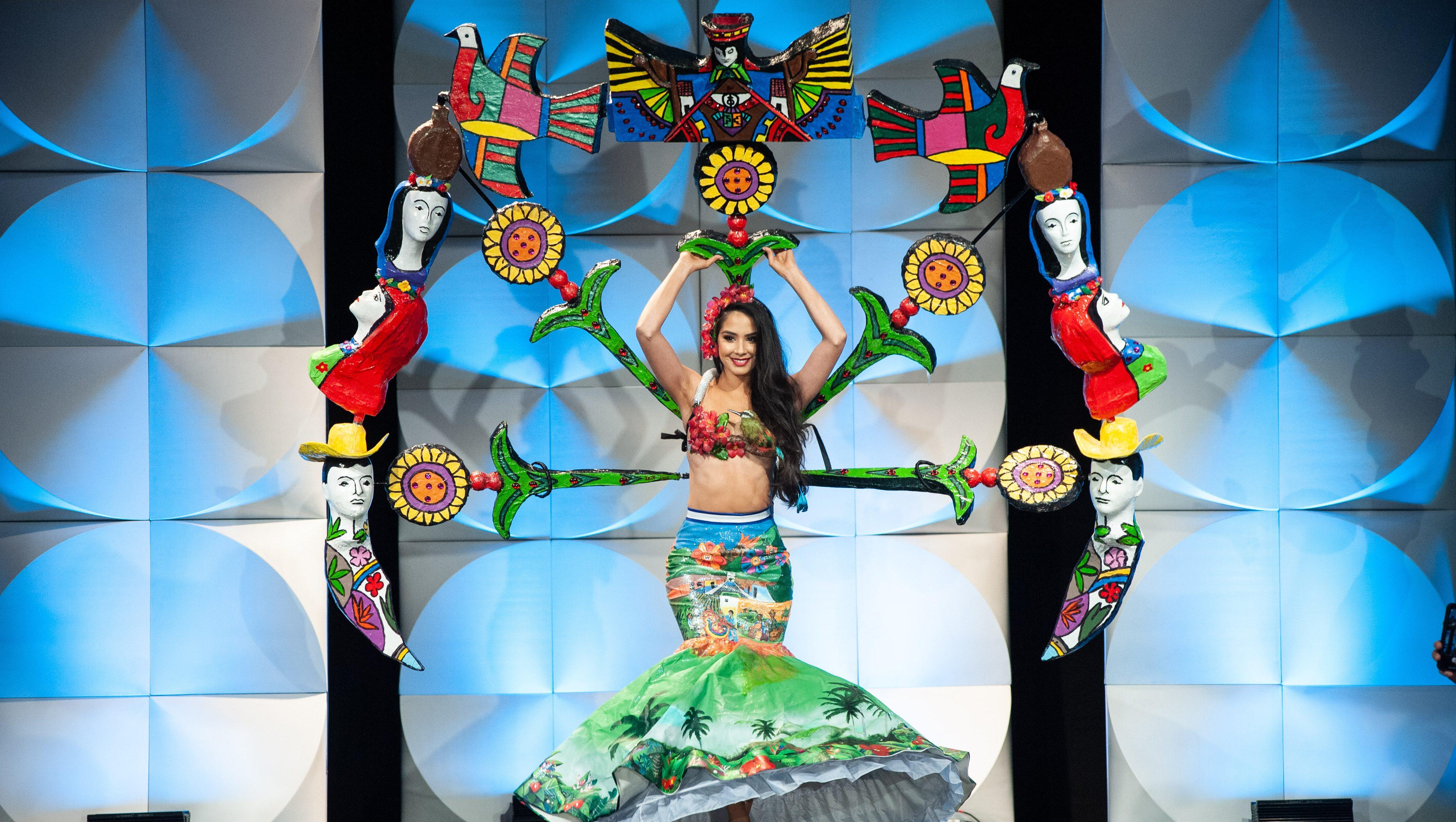Photos Miss Universe Best National Costumes 2019 Heavy Com Illustration of beautiful female diadem with precious stones. miss universe best national costumes