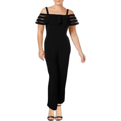 Adrianna Papell Women's Banded Off Shoulder Jumpsuit