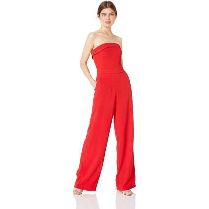 cupcakes and cashmere Women's Carrisa Crepe Wide Leg Jumpsuit