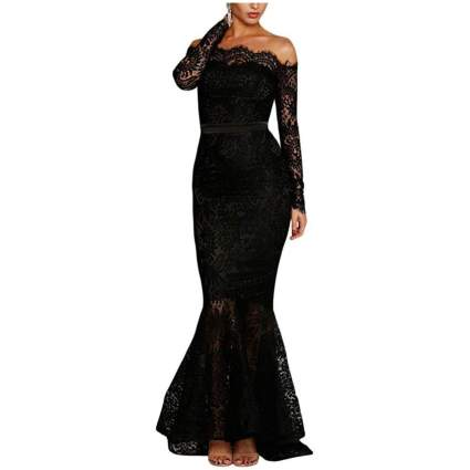 LALAGEN Women's Floral Lace Gown