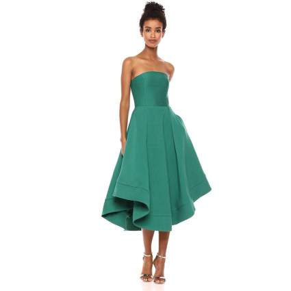 Strapless High Low Fit and Flare Party Dress