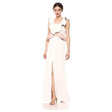 C/MEO COLLECTIVE Ruffle Peplum Maxi Gown