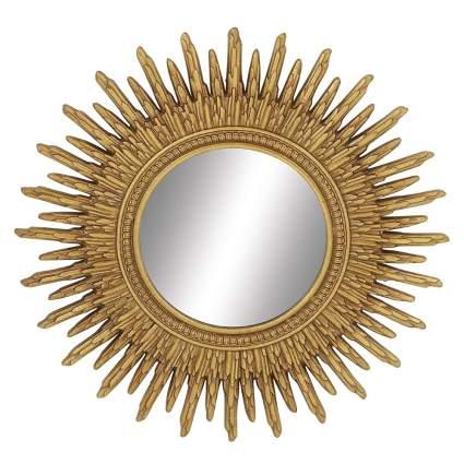 carved wood gold sunburst mirror