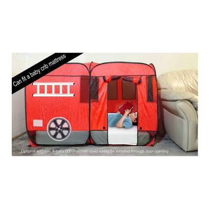 WOOHOO TOYS Fire Truck Bed Tent