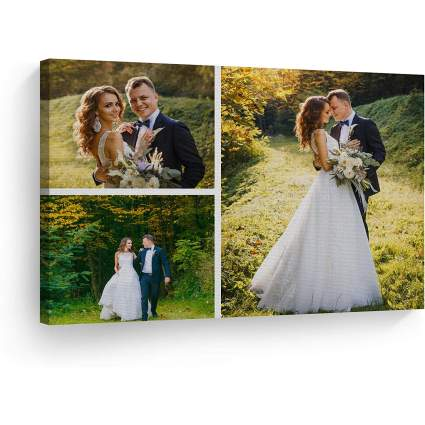3 Image Collage Custom Canvas Print