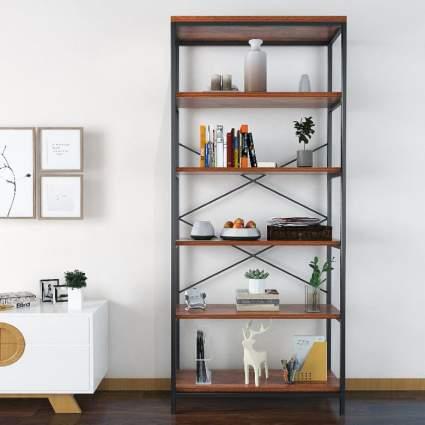 5 Shelf Industrial Bookcase