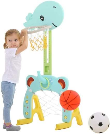 Basketball Hoop Set, 3 in 1 Sports Activity Center