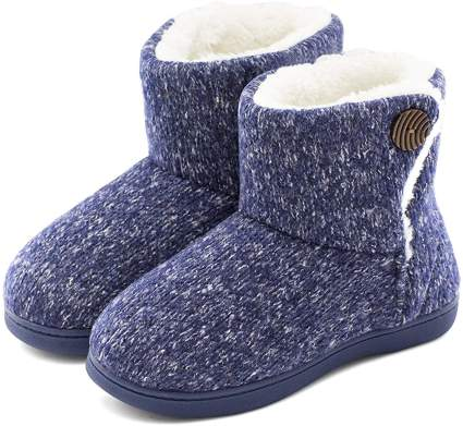 Woolen Yarn Woven Bootie Slippers